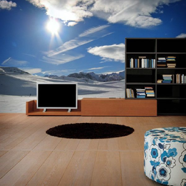 Wall Murals: Mountains with snow