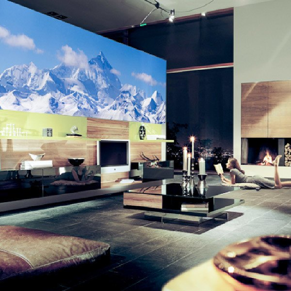 Wall Murals: Snowy mountain