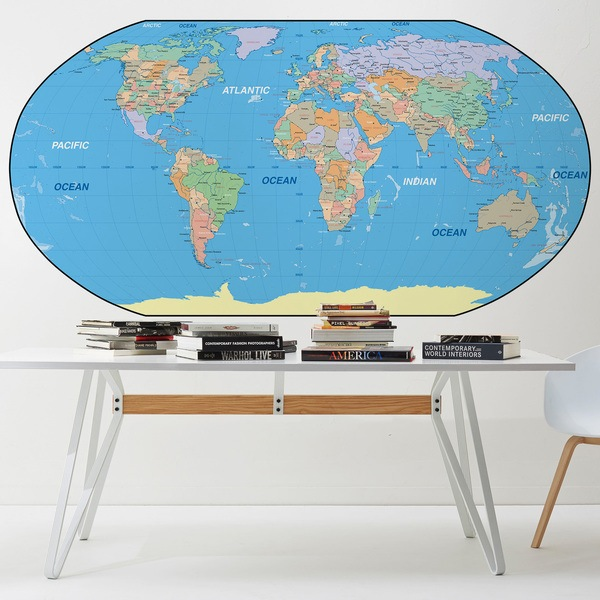 Wall Murals: World Map