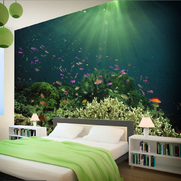Wall Murals: Coral in the light