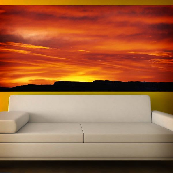 Wall Murals: Reddish Sunset