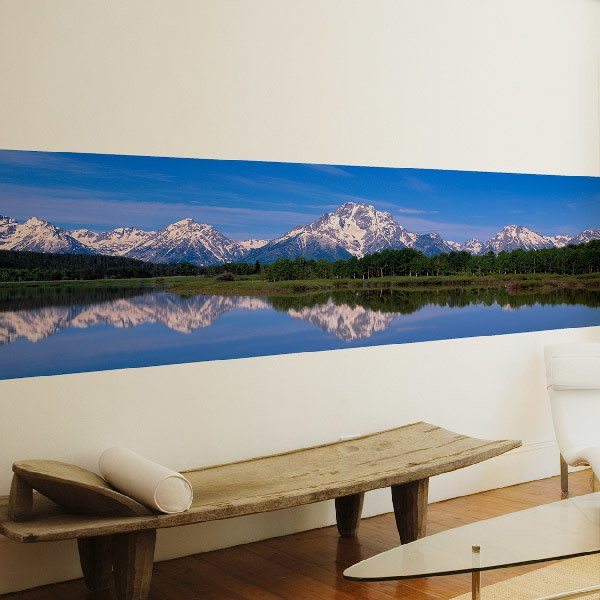 Wall Murals: The mountains lake
