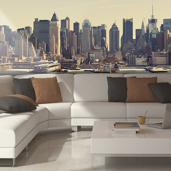 Wall Murals: Panoramic of Manhattan