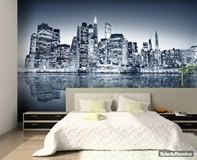 Wall Murals: Blue Night Manhattan 2
