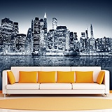 Wall Murals: Blue Night Manhattan 3