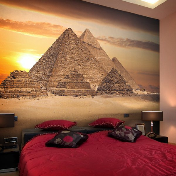 Wall Murals: Pyramids of Giza at sunrise
