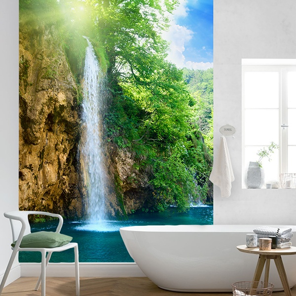 Wall Murals: Waterfall landscape
