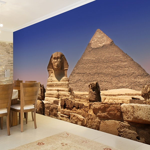 Wall Murals: Sphinx and Pyramids of Giza