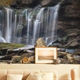Wall Murals: Small mountain waterfall 2