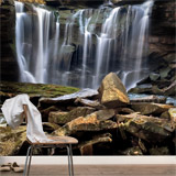 Wall Murals: Small mountain waterfall 4