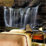 Wall Murals: Small mountain waterfall 5