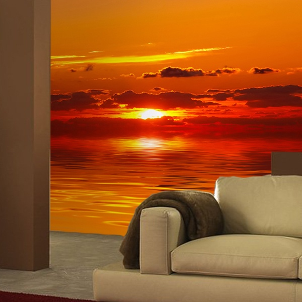 Wall Murals: Sunset at the end of the world