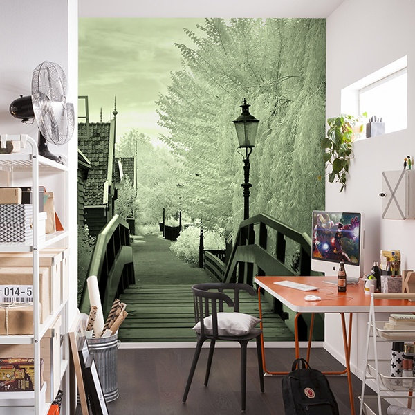 Wall Murals: Wooden Bridge