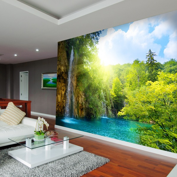 Wall Murals: Waterfall in the forest