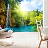 Wall Murals: Waterfall in the forest 3