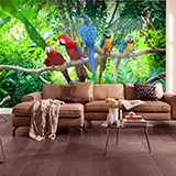 Wall Murals: Five parrots 2
