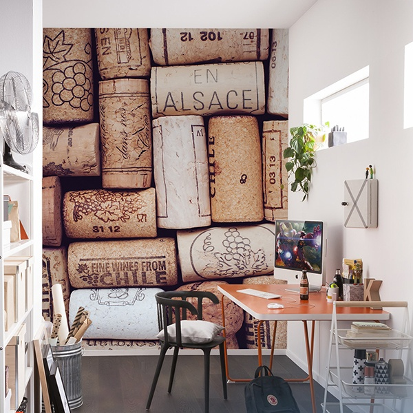 Wall Murals: Wine corks