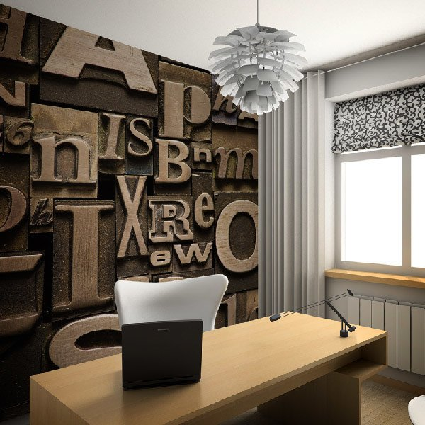 Wall Murals: Print letters