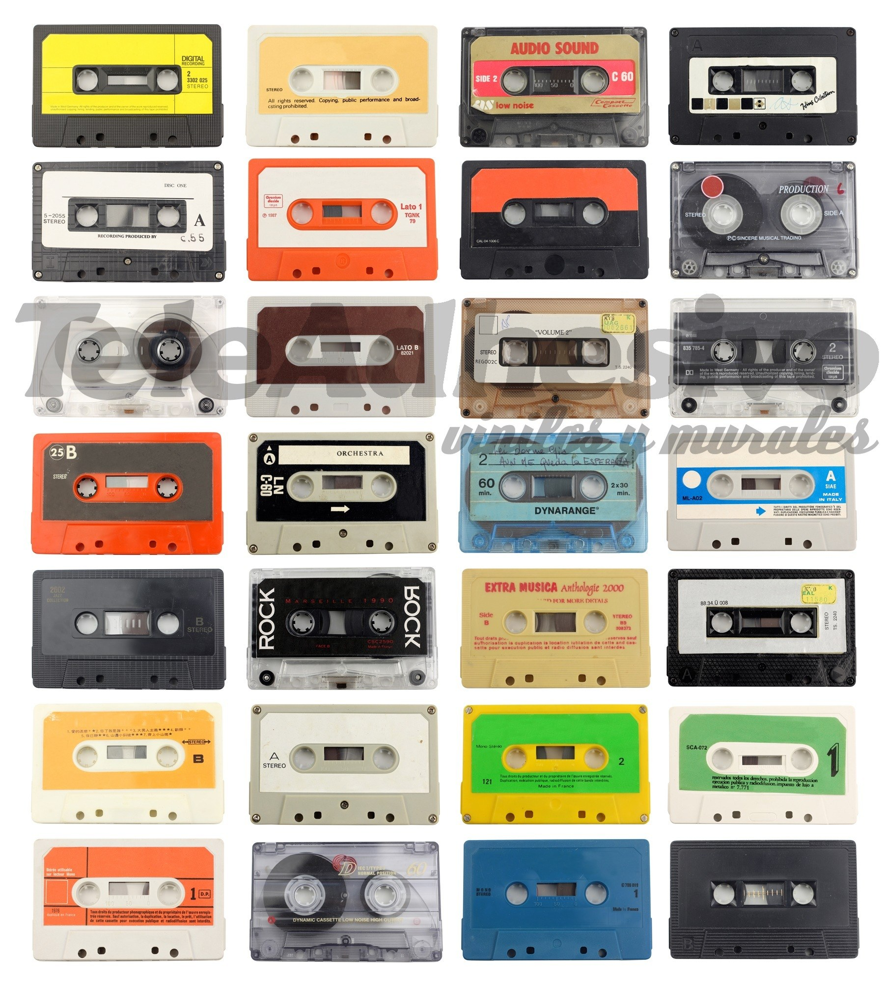 Wall Murals: Cassette tapes