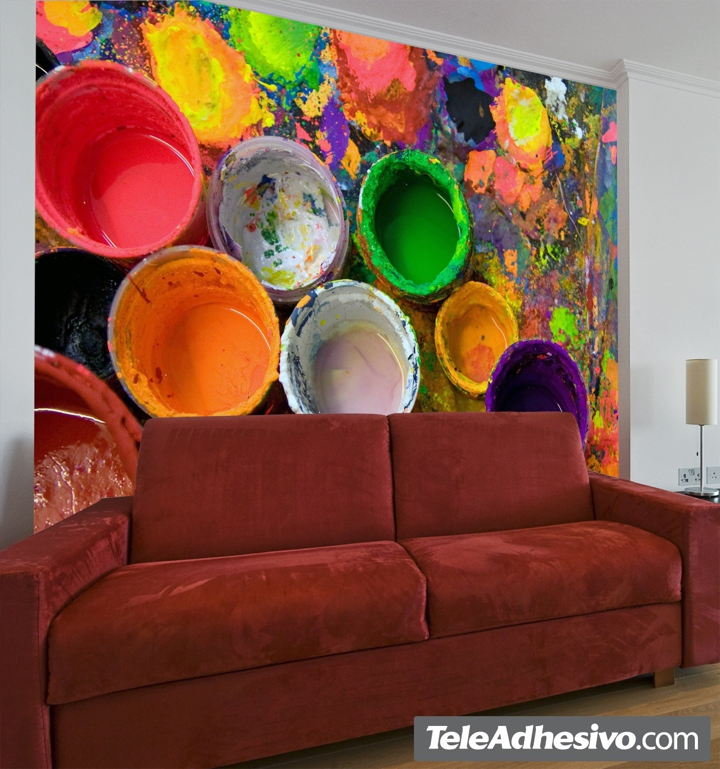 Wall Murals: Paint cans
