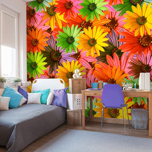 Wall Murals: Pop Flowers