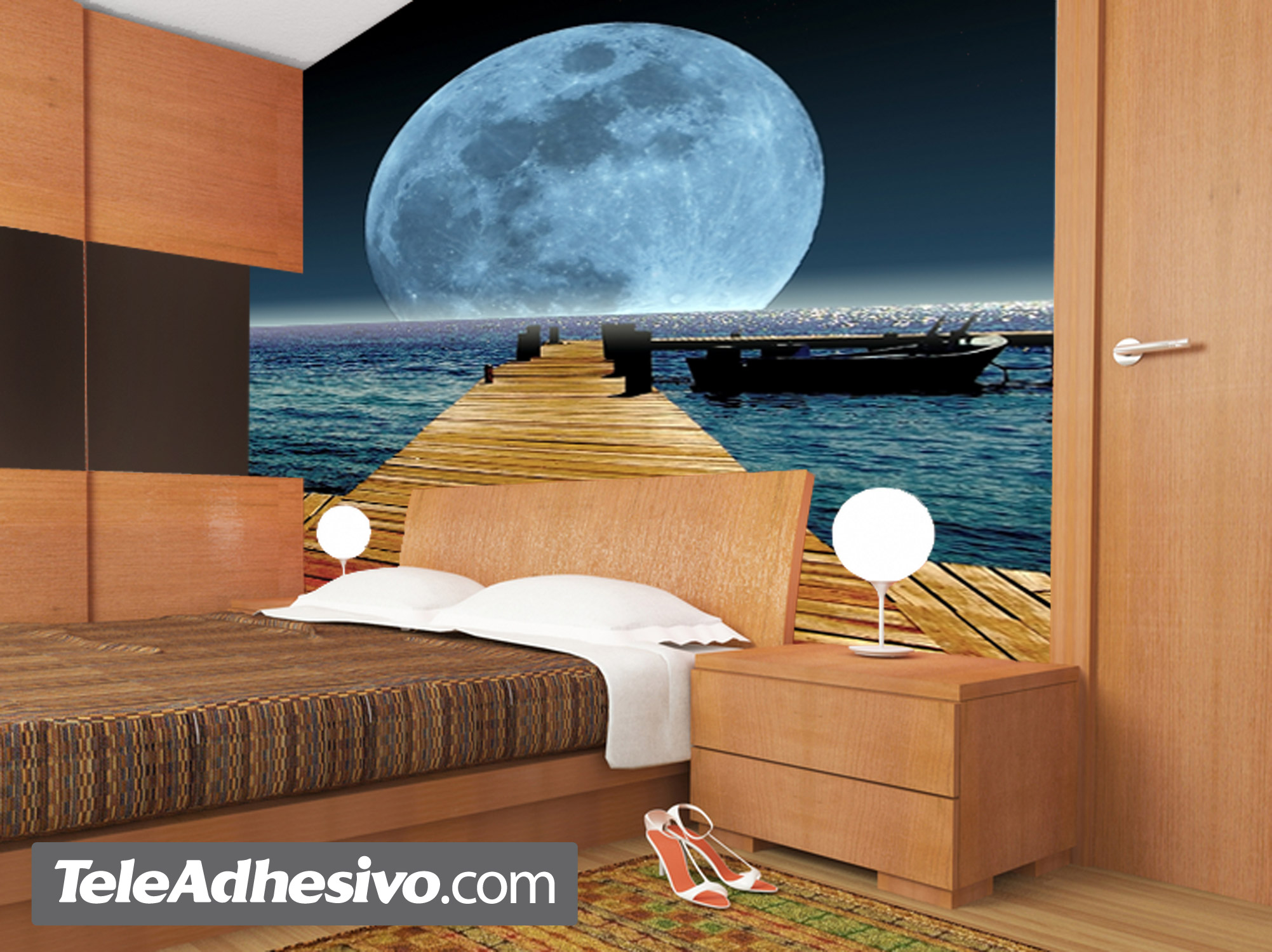Wall Murals: Moon in the sea