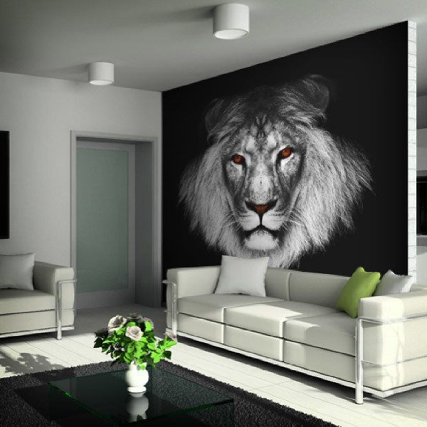 animal wall murals large wall mural jungle animalskid in the mural