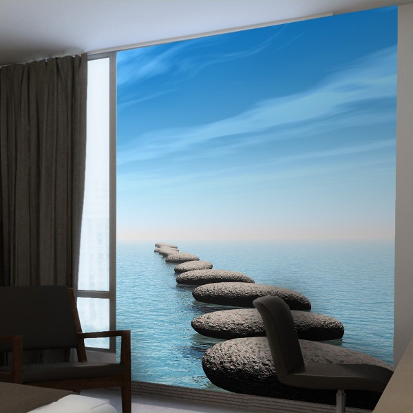 Wall Murals: Stones in the sea