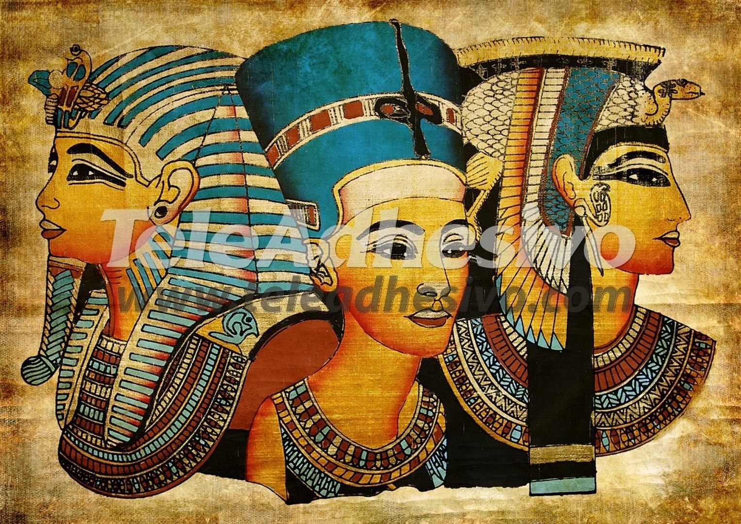 Wall murals egyptian for Egyptian mural painting