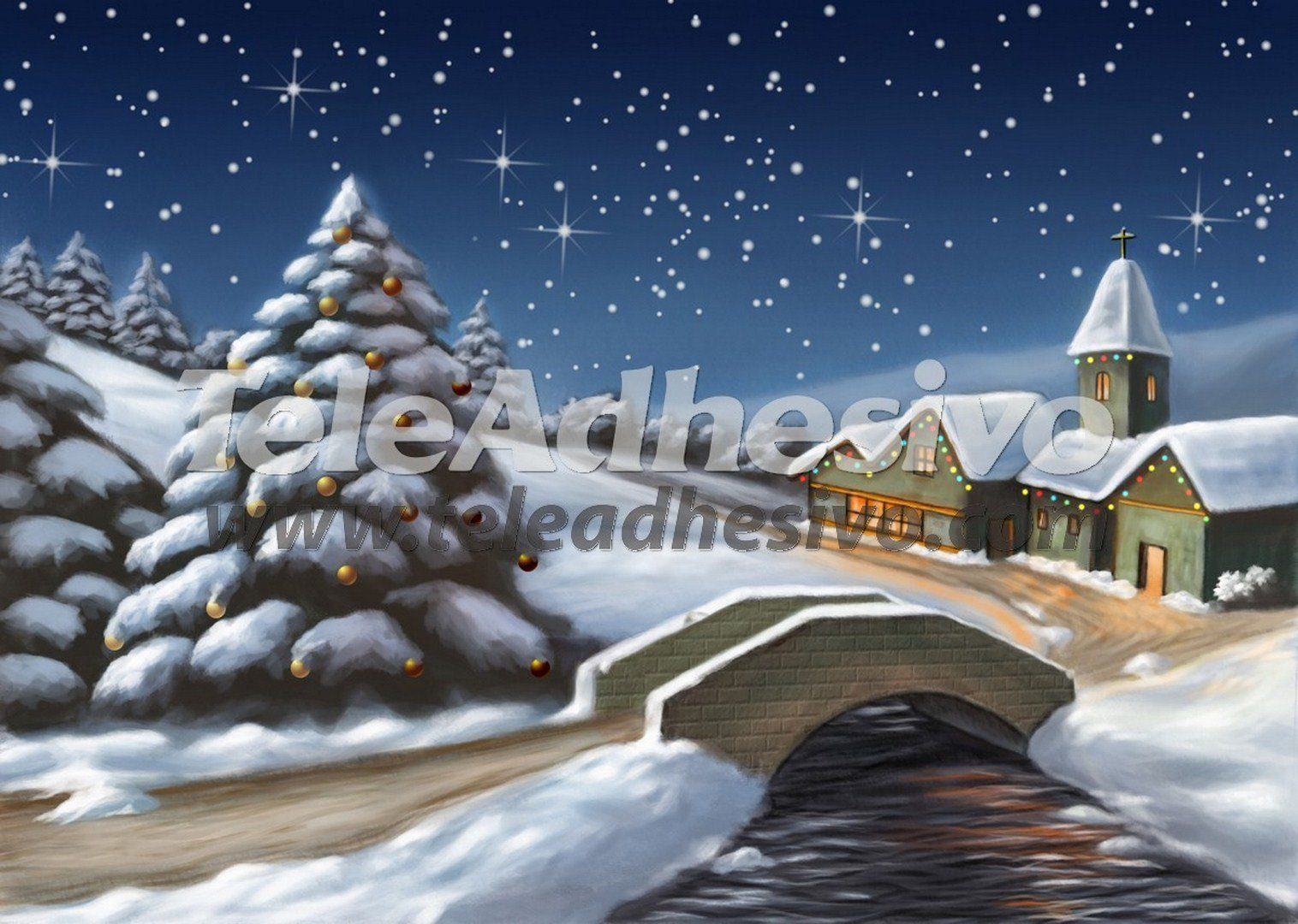 christmas church paintings scene setters backdrops amp backgrounds and wall murals room