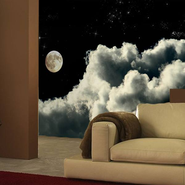 Wall Murals: Clouds in the starry sky