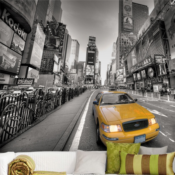 Wall Murals: Taxi in New York