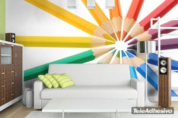 Wall Murals: Colored pencils
