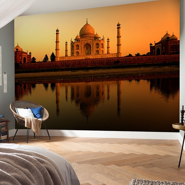 Wall Murals: Taj Mahal at sunrise