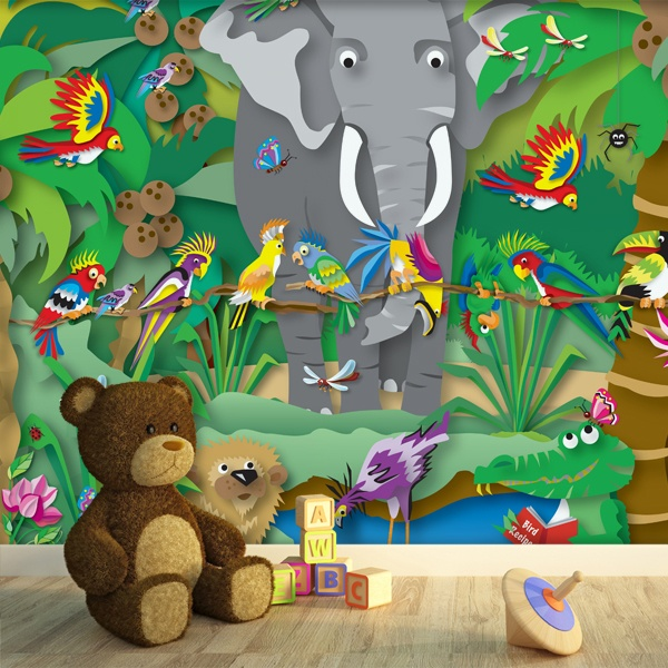 Wall Murals: Animated jungle