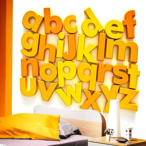 Wall Murals: Yellow Alphabet