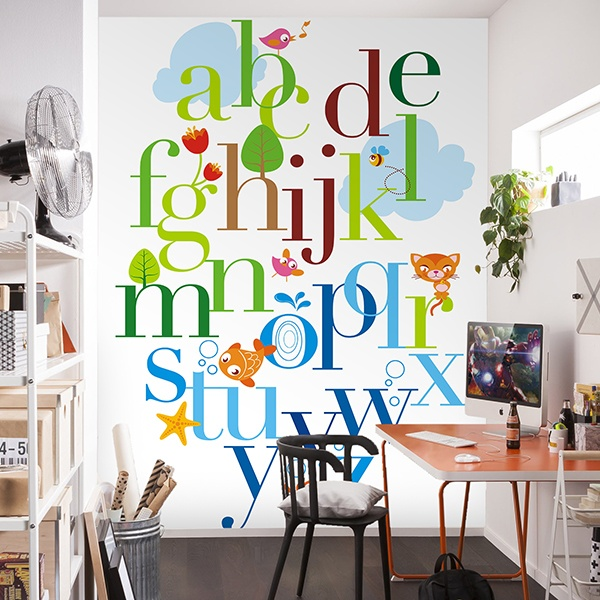 Wall Murals: Animal alphabet