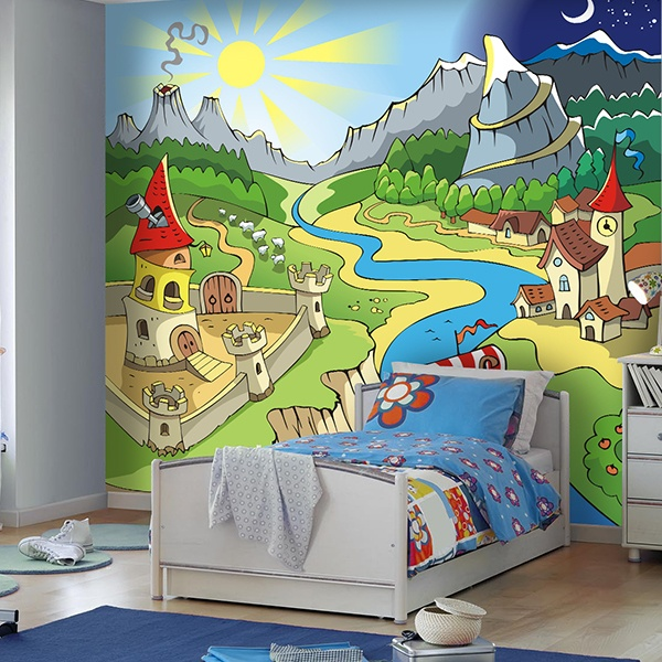 Wall Murals: Children's village