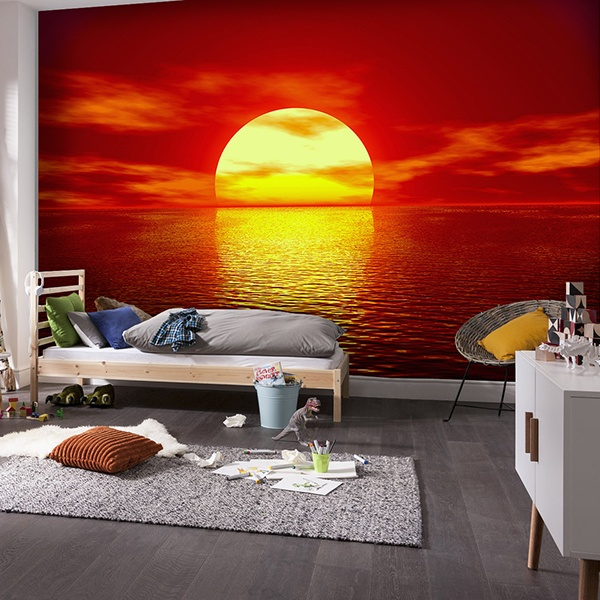 Wall Murals: Sunset in the sea