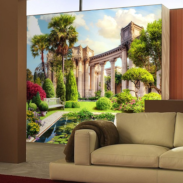 Wall Murals: Pond and Corinthian columns 0