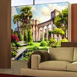 Wall Murals: Pond and Corinthian columns 2