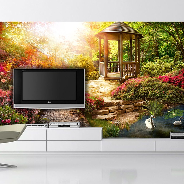 Wall Murals: Kiosk in the forest