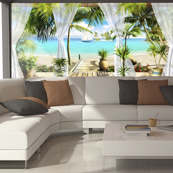 Wall Murals: Paradise facing the sea