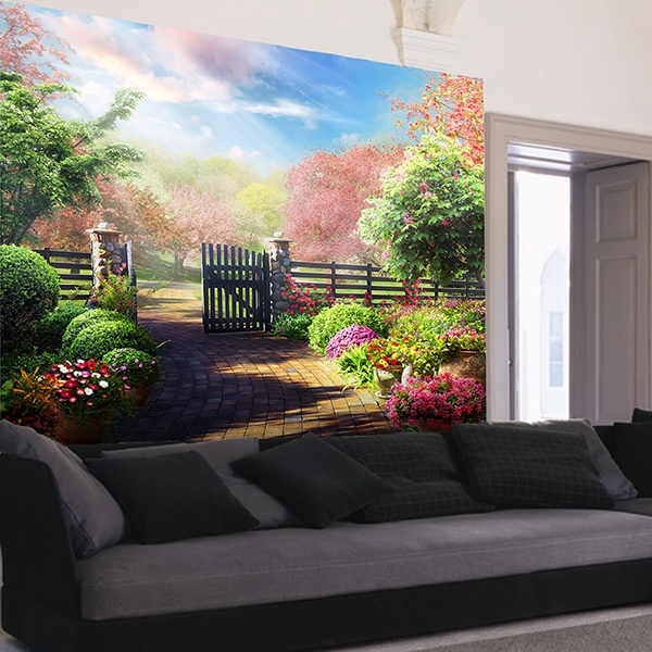 Wall Murals: Entrance to the natural garden