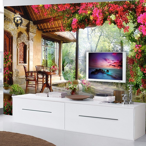 Wall Murals: Entrance garden cottage
