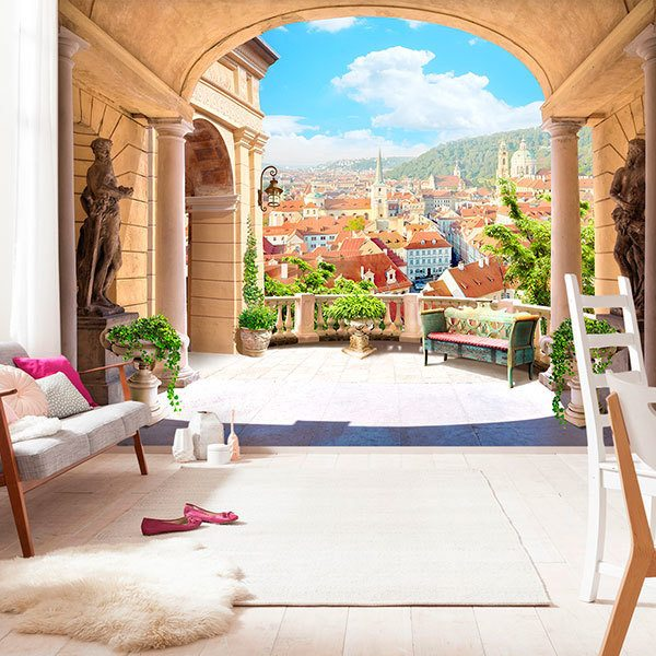 Wall Murals: Terrace in Italy 0
