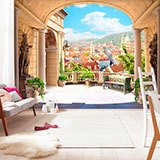 Wall Murals: Terrace in Italy 2