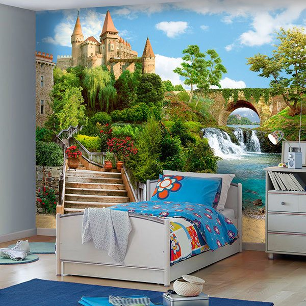 Wall Murals: Castle by the river 0