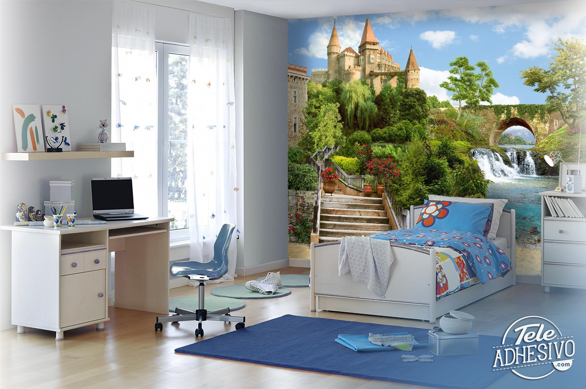 Wall Murals: Castle by the river
