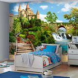 Wall Murals: Castle by the river 2